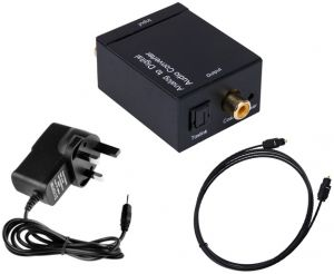 Analog to Digital Optical Toslink Audio RCA Converter/Adapter