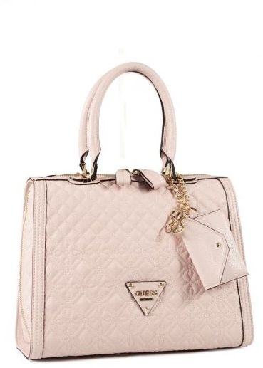 Guess Women's sunset quilt satchel Bag- light pink vg493306, price ...