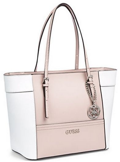 d7deb8f267 Guess Women s Delaney small classic Tote Bag- nude multi ey453522 ...