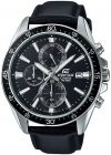 Watch for Men by Casio , Analog , Chronograph , Leather , Black , EFR-546L-1AV (Watch)