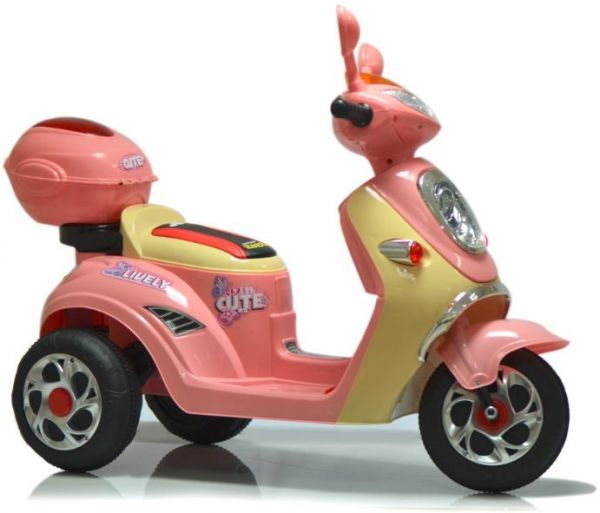 Toy House Lively Cute Scooty Electric Ride On - JT518P, Pink