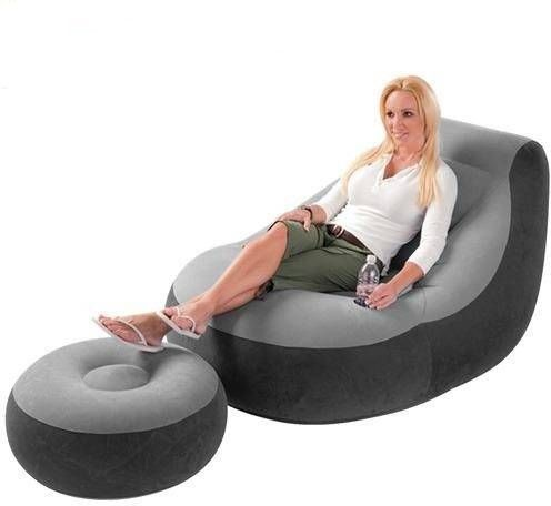 Souq Intex Inflatable Sofa With Footrest Inflatable