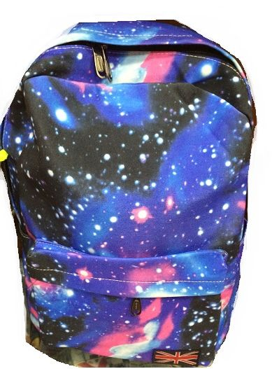 c7e4f6c0d08 Galaxy design backpack for boy and girls Casual school bag shoulder ...