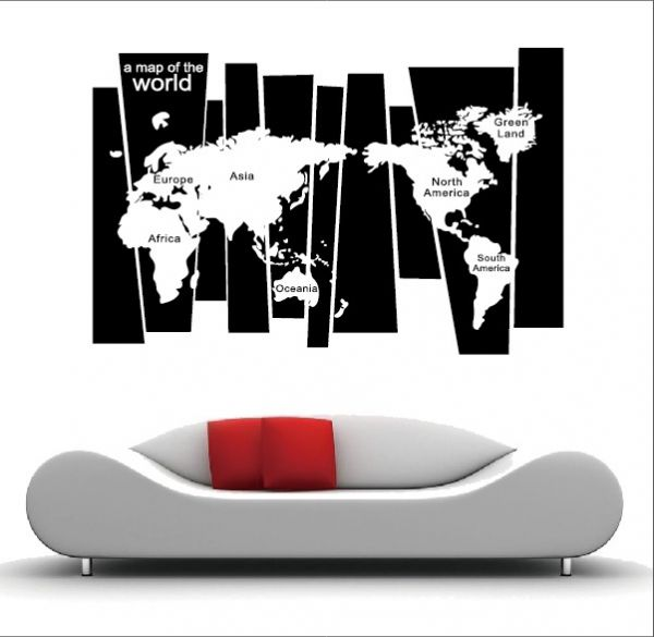 Wall Sticker World Map.Removable Wall Sticker World Map 8120 Souq Uae