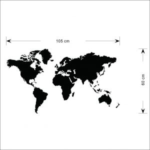 World map zooyooicanvasartthe decal guru uae souq removable wall sticker world map gumiabroncs Images