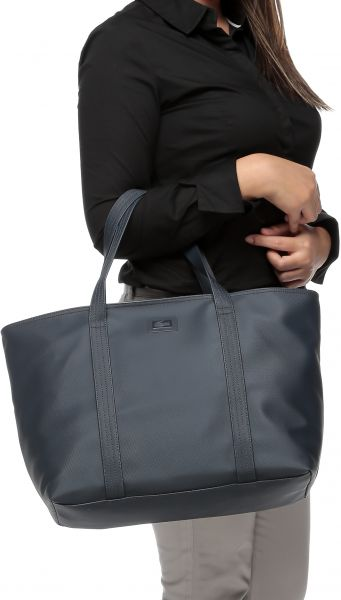 5176ea04f343 Lacoste NF1253WM-035 Classic Large Shopping Bag for Women - Navy ...