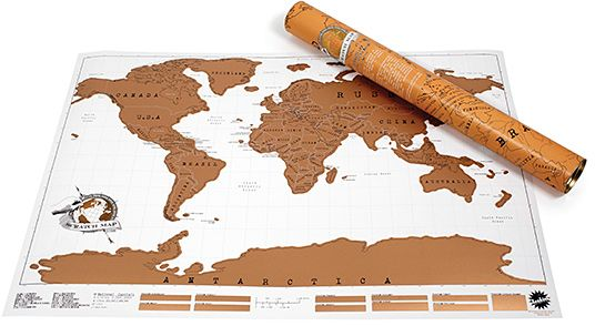 The Scratch Off World Map price review and buy in Dubai Abu
