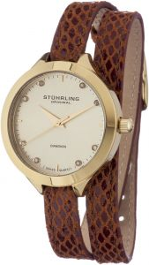 df23709c9 Stuhrling Original Vogue Women's Beige Dial Double Wrap Leather Band Watch  - 624.03 | KSA | Souq