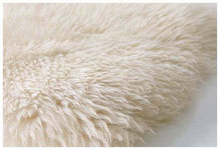 Souq Sheep Skin Rug White Rg0048 Uae