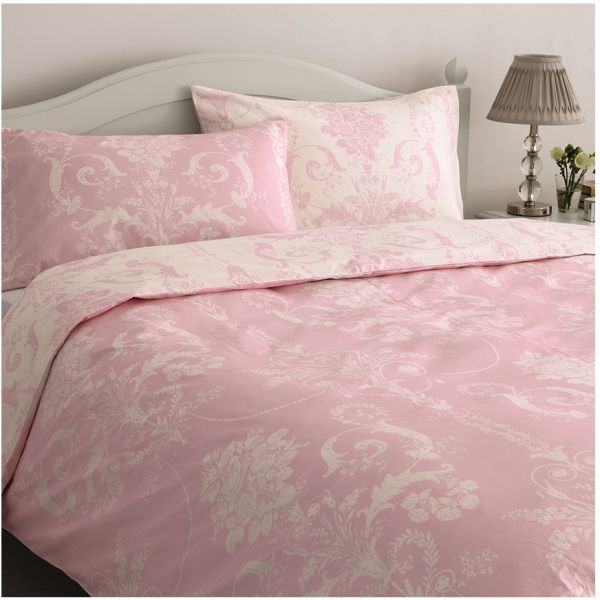 This item is currently out of stock. Laura Ashley Pink Double Size Josette Cyclamen Bedding Set  price