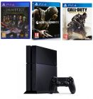 Sony PlayStation 4 Black 500GB with 3 Games: Injustice, Mortal Kombat X, Call of Duty: Advanced Warfare (Game Console)
