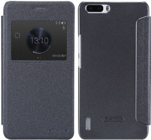 Nilkin HUAWEI HONOR 6 PLUS Sparkle Leather Case Cover With Screen Protector - Black
