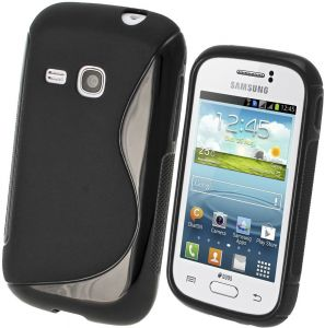 Calans Samsung Galaxy Young S6310 S Body Tpu Case Cover - Black