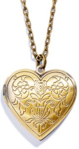 Heart Locket Bronze Tone Pendant Necklace