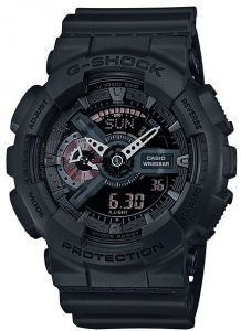 884d69691 Casio G-Shock Men's Black Ana-Digi Dial Resin Band Watch - GA-110MB-1A