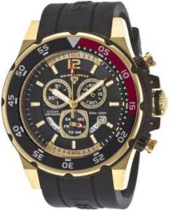 9ce88fcd6 ساعة يد رجالي Swiss Legend Men's 10348-RG-01 Ocean Abyssos Analog Display Swiss  Quartz Black Watch