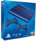 PlayStation 3 Super Slim Console with 2controller 500GB Blue (Game Console)