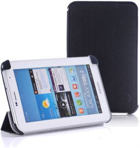 Belk Textured Leather Slim Case Cover for Samsung Galaxy Tab 2 (7.0) / P3100 - Black