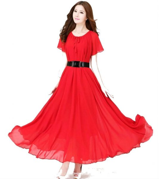 Buy red color ladies women 39 s fashion evening dress wedding for Night dress for wedding night
