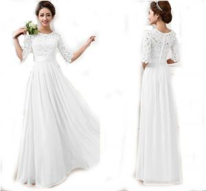 White Color Las Women S Fashion Evening Dress Wedding Clubwear Party Night Out