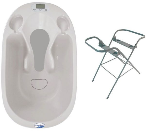 DigiBath Baby Bath Tub & Stand Set, Silver, price, review and buy ...