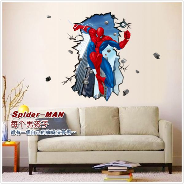 removable wall sticker – spiderman | souq - uae