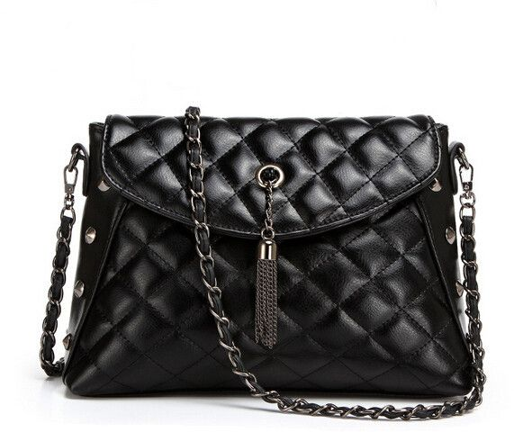 Quilted stylish women's PU leather shoulder bag Packet Lozenge CrossBody Bag Haol841