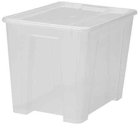 Polypropylene Plastic Clear Storage Box With Lid