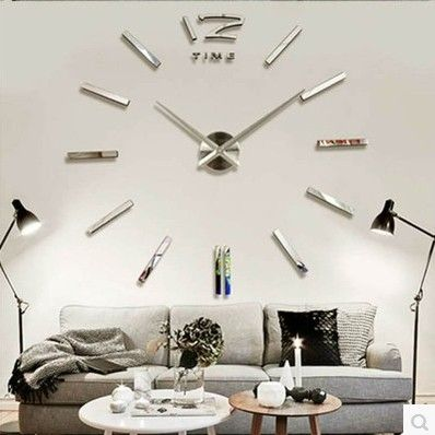 Diy Fashion Wall Clock For Home With Big Pointers