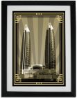 Photo of  Damac Tower-Sepia With Gold Border No Text F01-NM (A5) (Frame)