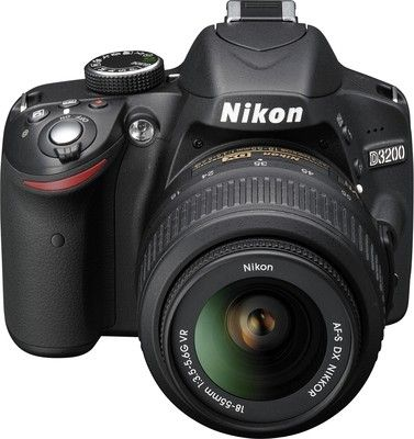 Nikon D3200 - 24.2 MP, SLR Camera, Black, 18 - 55mm Lens Kit ...