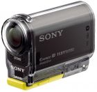 Sony HDR-AS30V 1080p Full HD Flash Memory Camcorder - Waterproof Case SPK-AS2, NFC, Carl Zeiss Lens, Black (Camcorder)