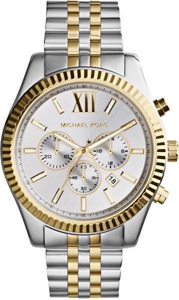 d1b8f8bce809 Michael Kors Lexington Watch for Men - Analog Stainless Steel Band ...