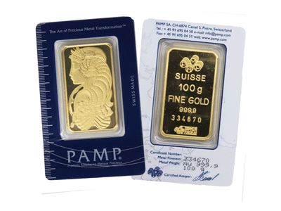 100 Grams Suisse Gold Bars Pamp 999 9 Purity Souq Uae