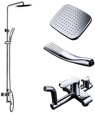 Bathroom Accessories Dubai shower system with bath faucet, price, review and buy in dubai
