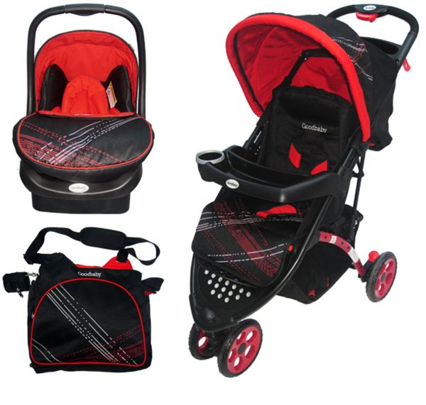 souq goodbaby stroller car seat and baby bag combo red 922ac uae. Black Bedroom Furniture Sets. Home Design Ideas