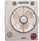 Clikon 12 Rechargeable Emergency Fan with Emergency Lantern and Music Player - CK2802 (Fan)