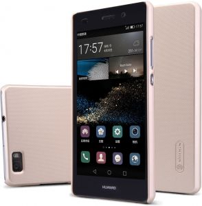 Nillkin Huawei P8 LITE Frosted Shield Hard Case Cover With Screen Protector -Gold