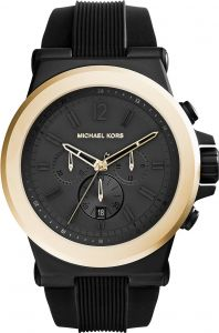 864a0f3842b1 Michael Kors Dylan Men s Black Dial Silicone Band Chronograph Watch - MK8383