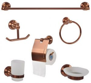 Wall mounted bathroom hardware accessories set price review and buy in dubai abu dhabi and - Bathroom accessories dubai ...