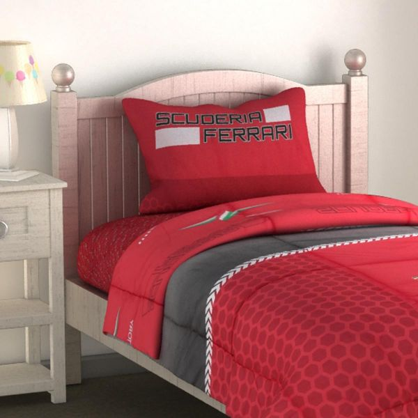 Ferrari Red King Size 160 X 240 Cm 144 Thread Count 3 Piece Bedding Set