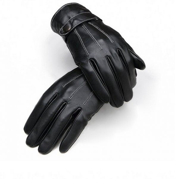 832dcc130 [T-19652]Men Warm Lined Leather Gloves Skiing Cycling Driving Riding  Comfort | KSA | Souq