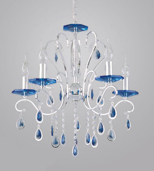 TINKO Chandelier Crystal Light 38046 Silver Blue Crystal, price ...