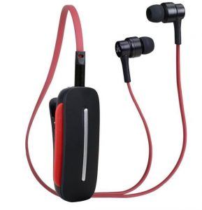 Avantree Clipper Bluetooth Stereo In Ear Headset - Black and Red