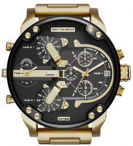 d4148f63e Diesel Mr. Daddy 2.0 Men's Black Dial Gold-Plated Stainless Steel Band  Watch - DZ7333