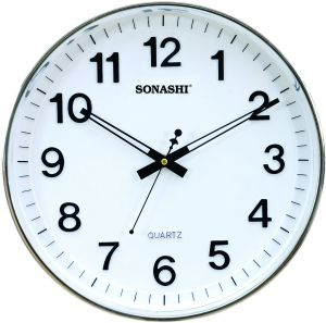 sonashi wall clock white color swc809 price review and buy in dubai abu dhabi and rest of united arab emirates souqcom