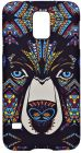 Samsung-S5 Mobile Case Colorful Wolf - Brown (Mobile Phone Accessories)