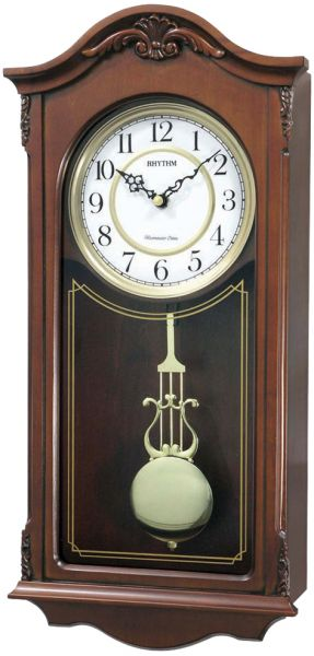 Rhythm CMJ502FR06 Wooden Pendulum Clock Brown price review and