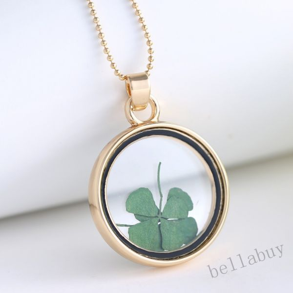Buy round locket necklace pendants gold chain necklace for women round locket necklace pendants gold chain necklace for women glass clover dried flower necklace aloadofball Choice Image
