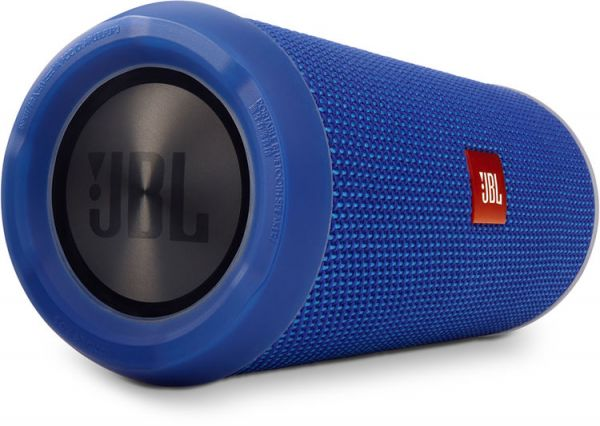 JBL Flip 3 Splashproof Portable Bluetooth Speaker - Blue, JBLFLIP3BLUE | Souq - UAE